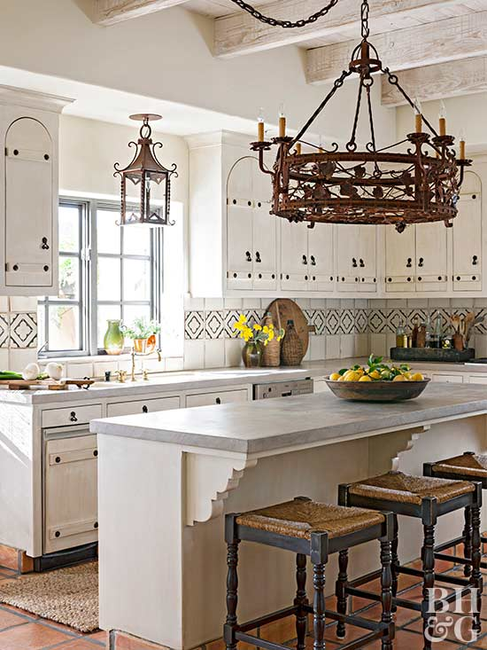 bright tuscan kitchen