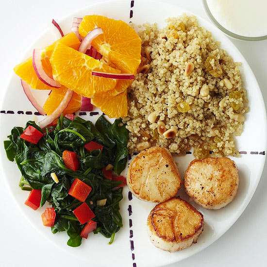 Citrus and Scallops Supper