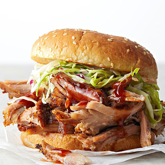Shredded Roast Pork Sandwiches