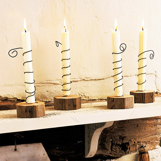 Make Rustic Wired Candle Holders
