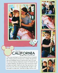 Carousel Scrapbook Page