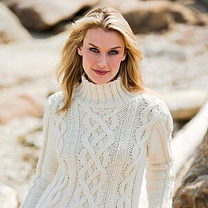 Very Cool V-Neck Sweater You Can Knit   Better Homes & Gardens