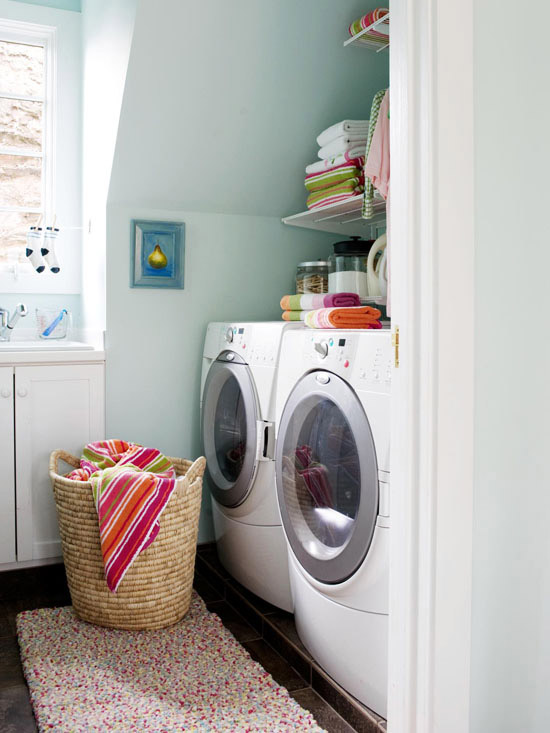 laundry room washer dryer color blue walls