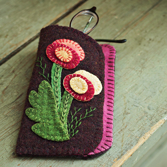 folk art glasses case