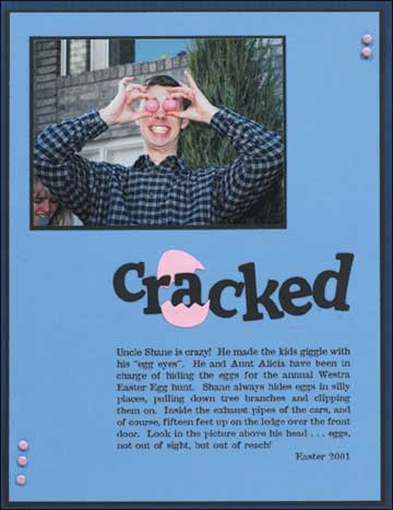 Cracked - scrapbook page