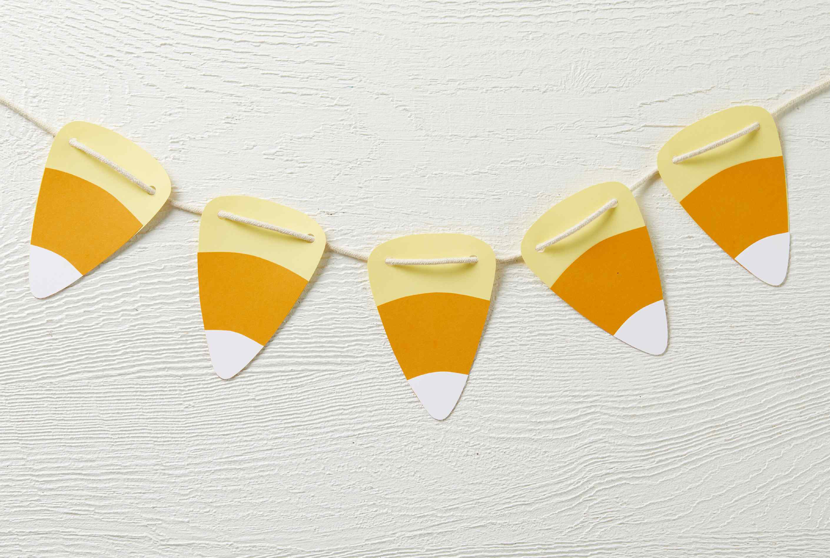 Candy Corn DIY Halloween Garland