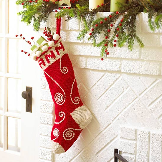 Swirled Knit Stocking