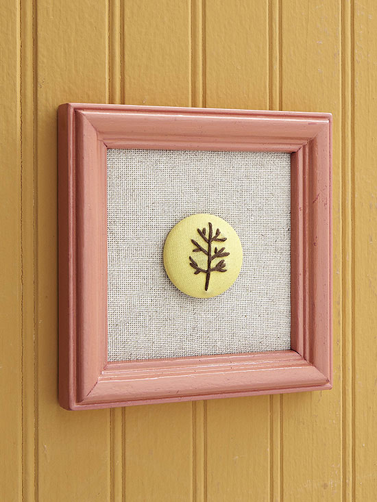 button wall art