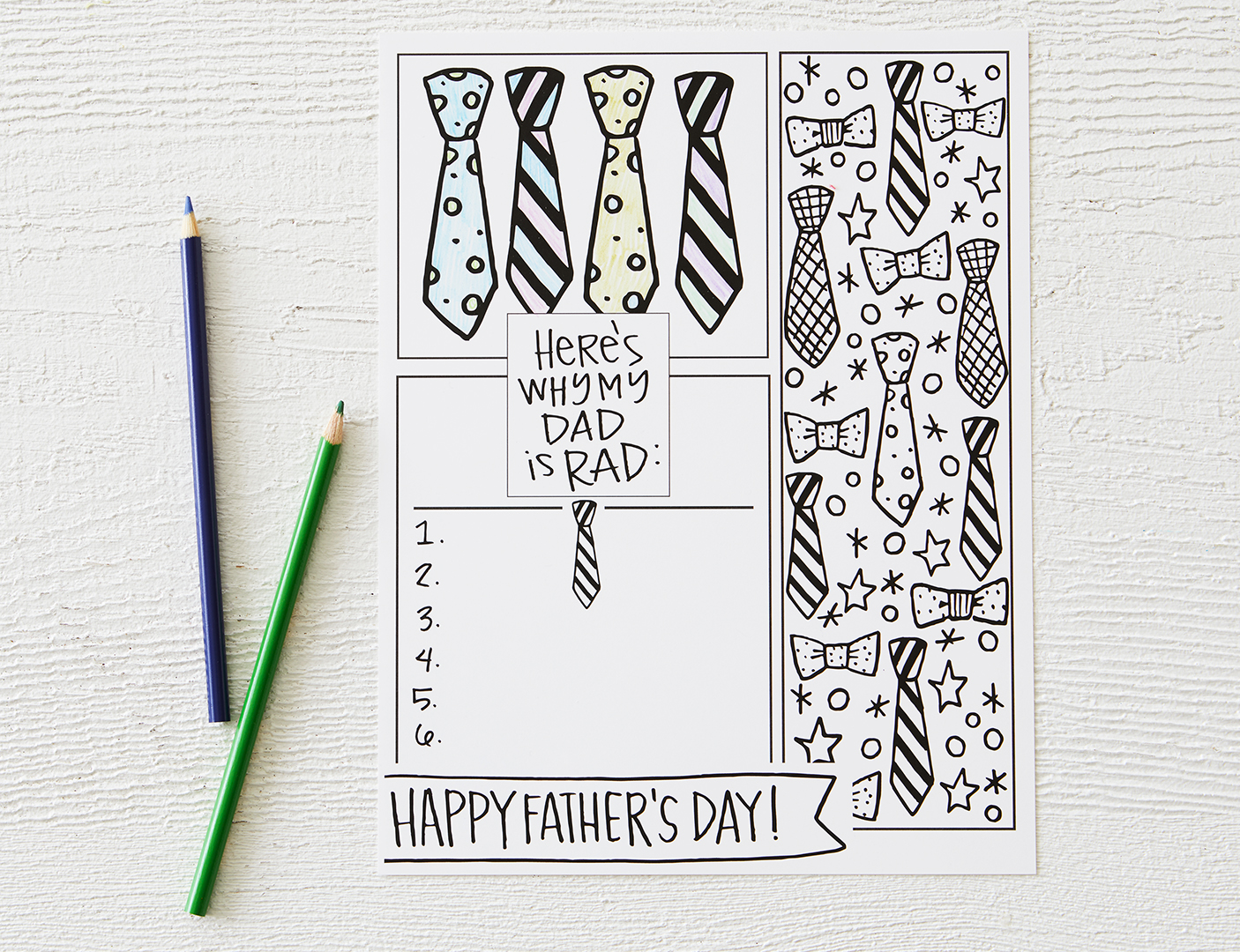 coloring pages for father's day