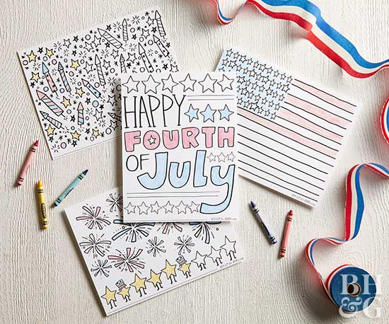 fourth of july coloring images
