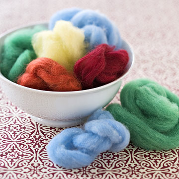 bowl of wool