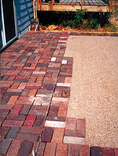 Laying Brick Patio Step 3