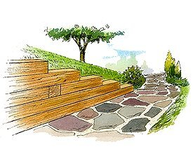 Timber Retaining Wall | Better Homes & Gardens