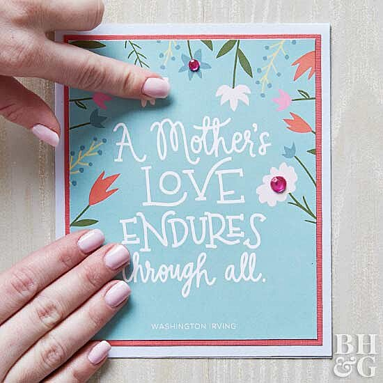 The Prettiest Cards to Make (or Print!) for Mother's Day