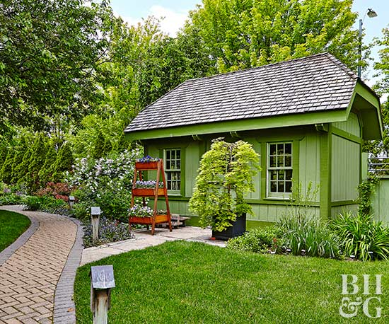 BHG Test Garden shed