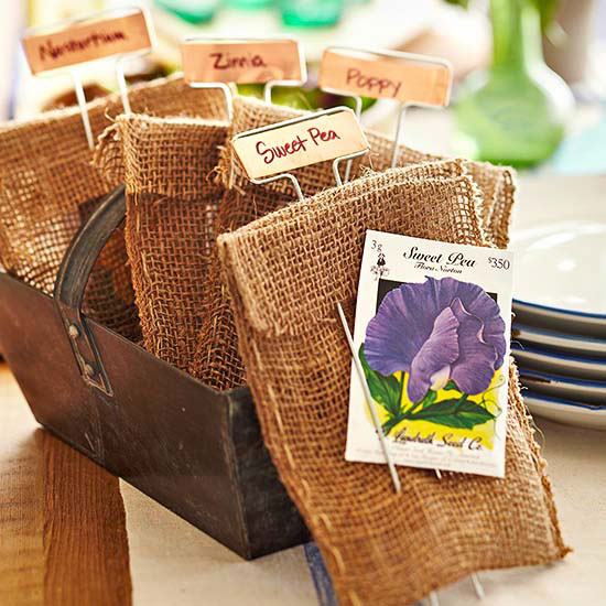 Seeds party favor