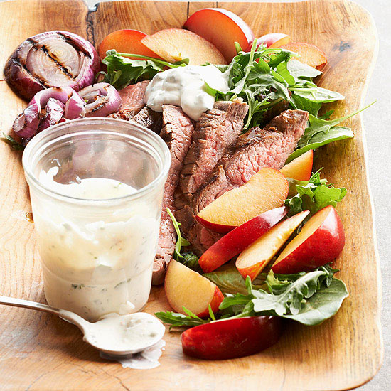 Flank Steak and Plum Salad