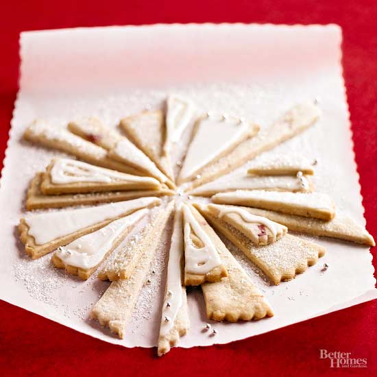 Strawberry Shortbread Icicles