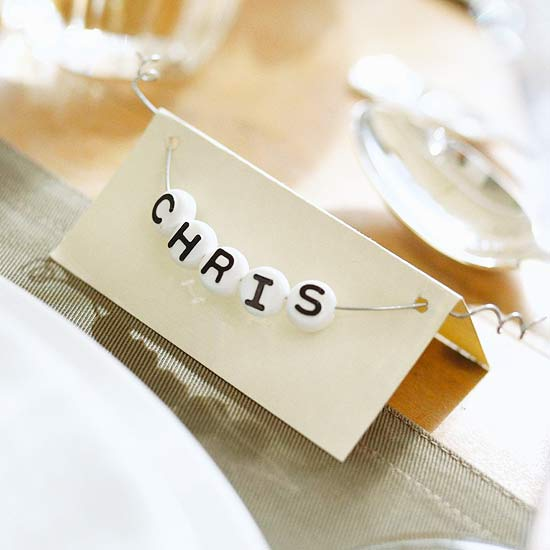 Place card for tabletop