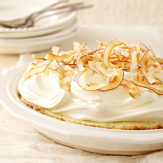 White Chocolate and Coconut Cream Pie