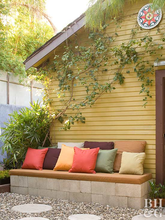 diy outdoor seating with cushions