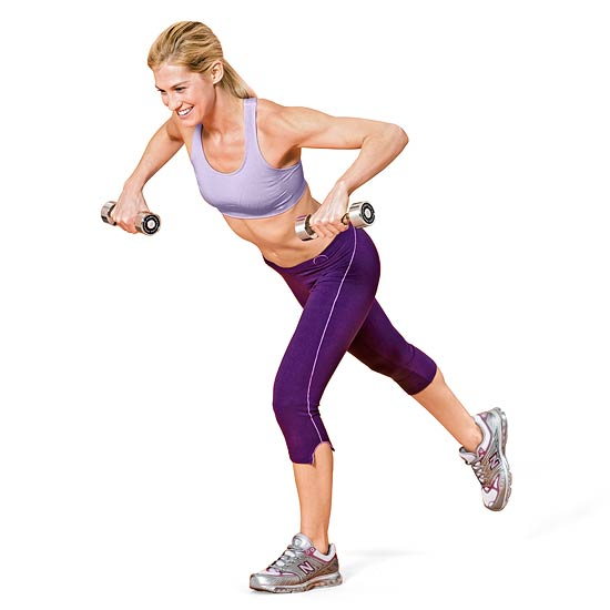 Woman doing a row exercise