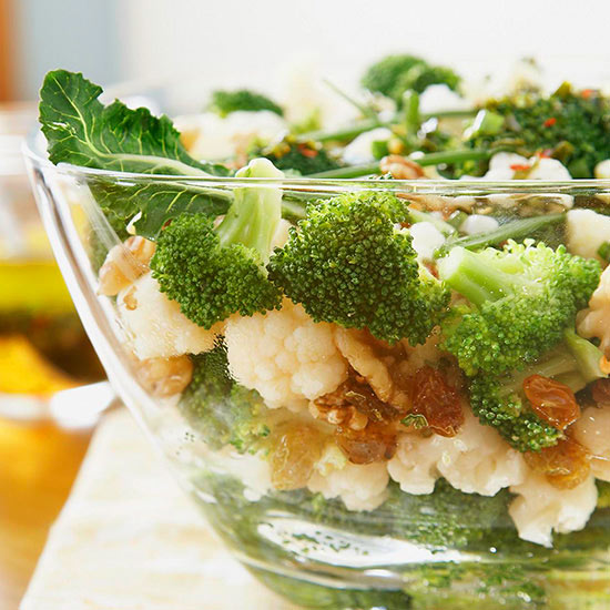 Broccoli-Raisin-Cauliflower Salad