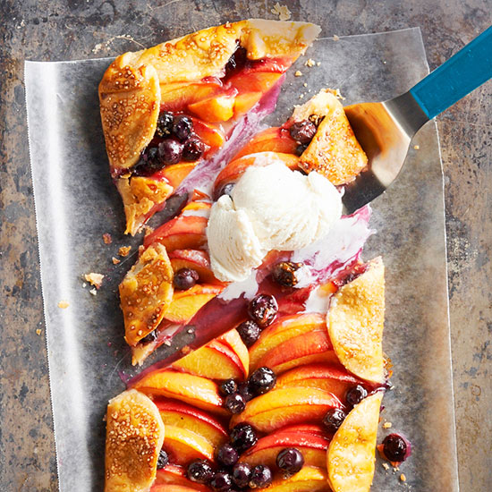 Peach Blueberry Slab Pie