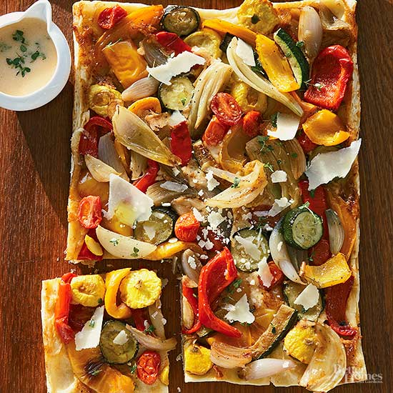 Roasted Squash and Pepper Tart
