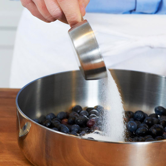 Begin the Blueberry Sauce