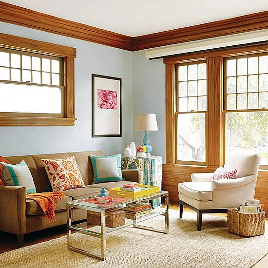 . Decorating Ideas for Blue Living Rooms
