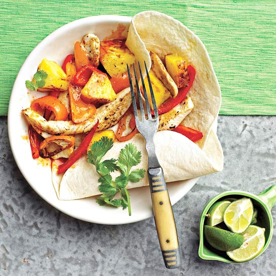 Chicken-Pineapple Fajitas