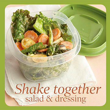 Salad Topper Tip 3: Mix Up Dressing with Salad