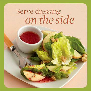 Salad Topper Tip 4: Serve Dressing on the Side