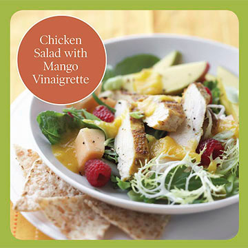 Healthy Salad Recipe: Chicken Salad with Mango Vinaigrette