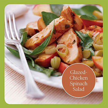 Healthy Salad Recipe: Glazed-Chicken Spinach Salad