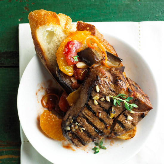 Lamb with Eggplant Relish