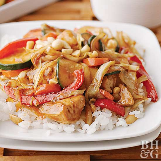 Ginger chicken stir-fry