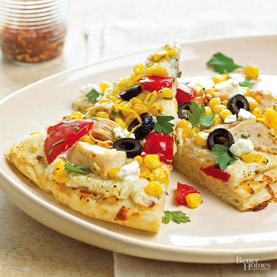 Chicken and Corn Pizza