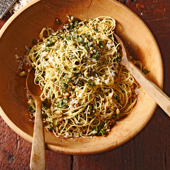 Angel Hair with Walnut Pesto