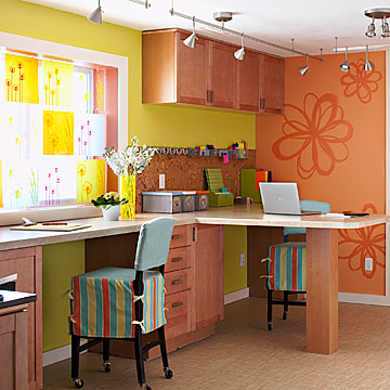 Crafts room work area
