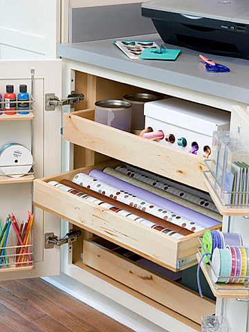 Cabinet for craft supplies
