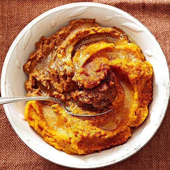 Ancho-Cocoa Mashed Butternut Squash