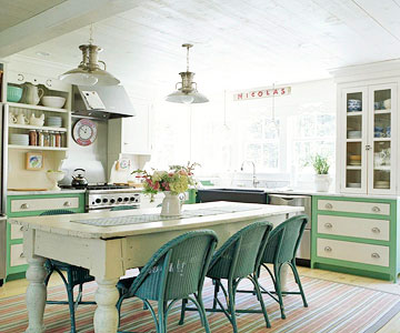 Kitchen and kitchen table