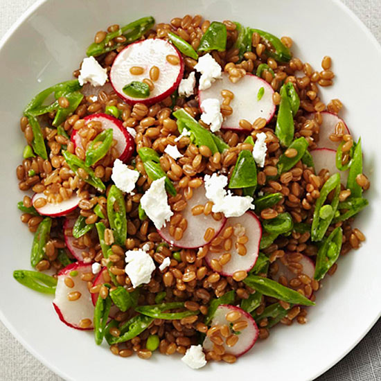 Sugar Snap Pea, Radish, and Goat Cheese Salad