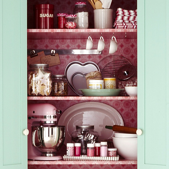 baking armoire storage detail