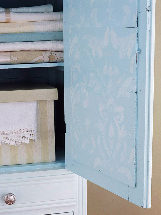 Pastel armoire close up