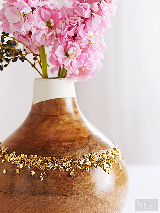 Ritzy Natural Wood Vase