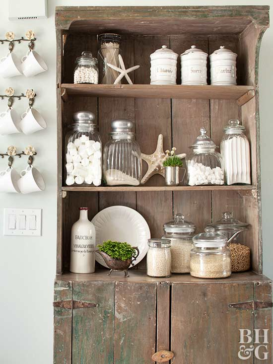 rustic hutch with storage
