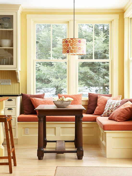 Banquette with Window Seating